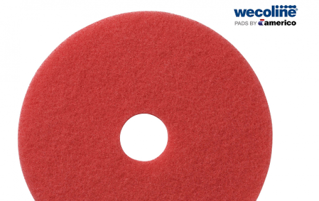 New red Wecoline scrub pad for daily floor cleaning