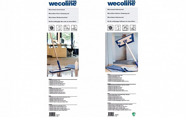 New packaging for microfibre floor and interior sets