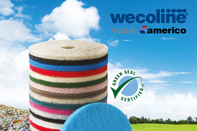 Wecoline Full Cycle® pads by Americo certified by Green Seal™
